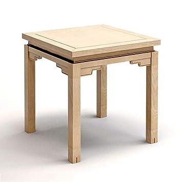 ACZZ Mesa auxiliar de sofá, mesa de café cuadrada de madera de ...