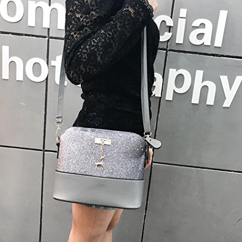 Leather Women's Travel Women Small Shoulder for Gray Splice Deer Bag Shoulder Bag Messenger Tote Bags Bag Sequins Handbags Crossbody Bags Bag 1AraqdA