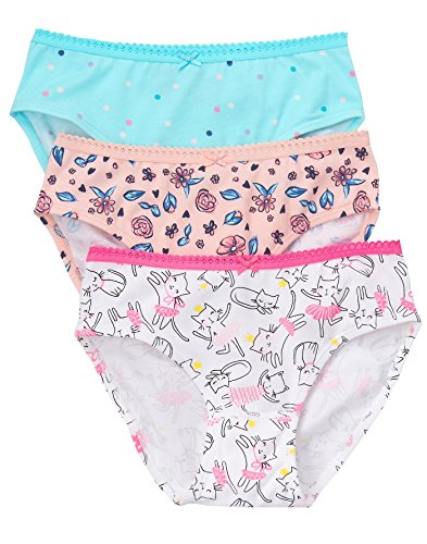 Gymboree Little Girls' Underwear (Pack Of 3), Dancing Cat, M