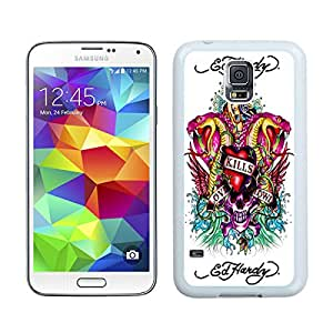 Unique And Durable Designed Case With Ed Hardy 8 White For Samsung Galaxy S5 I9600 G900a G900v G900p G900t G900w Phone Case