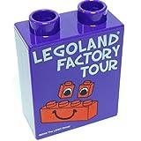 """Lego Parts: Lego Promotional/Commemorative Duplo, Brick 1 x 2 x 2 """"LegoLand 2010 Factory Tour Exclusve"""""""