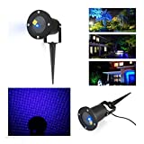 Blue Static Firefly Laser Projector /Starry Lawn Light LED Outdoor Garden Xmas Home Garden Decor