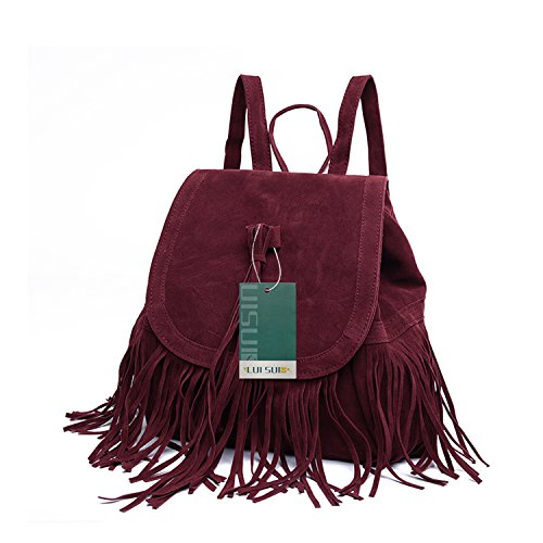 LUI SUI- Valentine's Day Gift Women's Fringed Backpack Tassel Shoulder Bag by LUI SUI (Image #6)