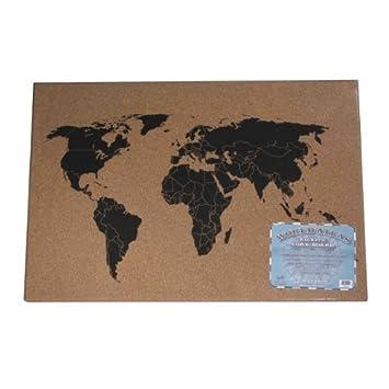 Amazon cork world atlas message board calculator and cash cork world atlas message board gumiabroncs Images
