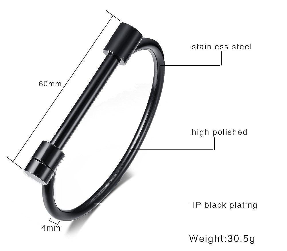 4 Pieces Stainless Steel D Shape Bar Screw Shackle Horseshoe Novelty Fashion