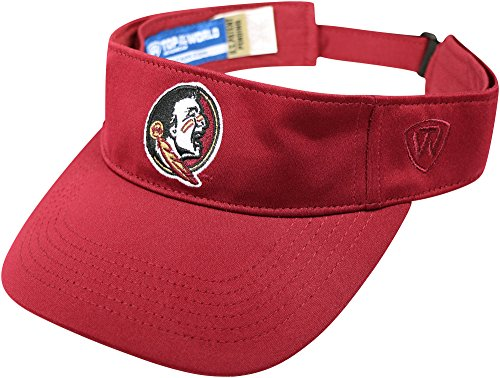 Florida State Mens Hawkeye Memory Fit Visor One Size Red ()