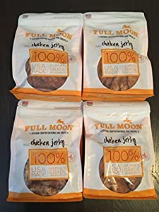 Full Moon All Natural Human Grade Dog Treats, Chicken Jerky, 12.5 oz. (Pack of 4)