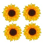 YEDREAM-Artificial-Sunflower-Heads-28-Fake-Simulation-Flower-Head-for-Home-Party-Wedding-Cake-Decoration