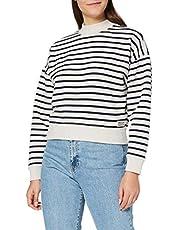 Scotch & Soda Oversize-Sweatshirt mit Bretonstreifen in Bio-Qualität dames Sweater