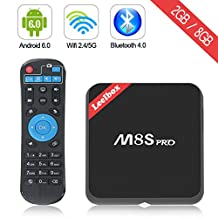 Leelbox M8S Pro 2017 High configuration Android TV Box 4K Android 6.0 TV box Amlogic S905X Quad Core CPU 64Bits 2G/8G Dual-Band WiFI 2.4G/5G Bluetooth 4.0