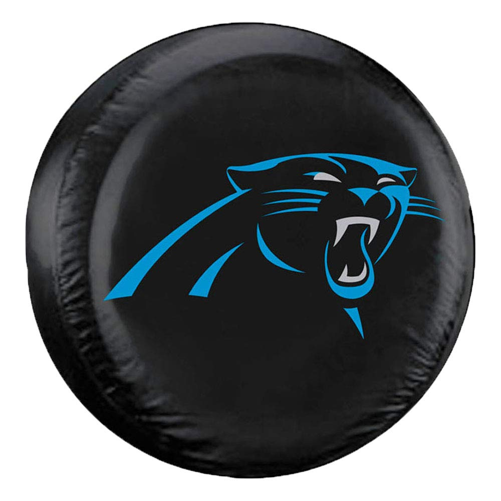 Fremont Die NFL Carolina Panthers Tire Cover, Large Size (30-32'' Diameter) by Fremont Die