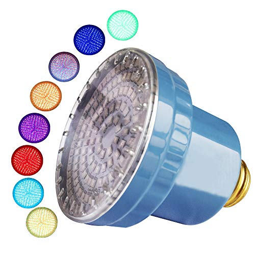 LAMPAOUS intekit S2 Remote LED Spa Lights Bulb 120VAC 15 Watt Multi Color E26 Screw inground Spa Bulb for Pentair (Spa Bulb Only)