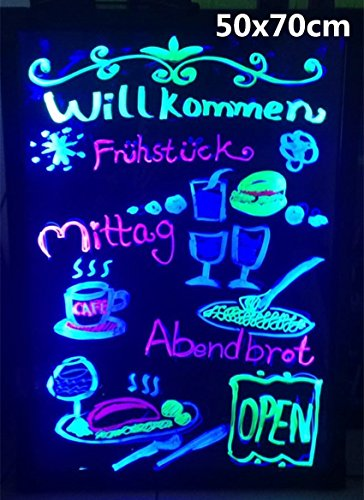 LED schreibtafel Writingboard mit Fernbedienung Leuchttafel Werbetafel Leuchtreklame Neu 50X70CM