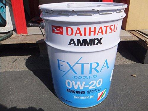 DAIHATSU/ダイハツ純正 最高級 省燃費 エンジンオイル AMMIX/アミックス EXTRA エクストラ SAE:0W-20 20L 純正品番:08701-K9030 B075NXQHXP