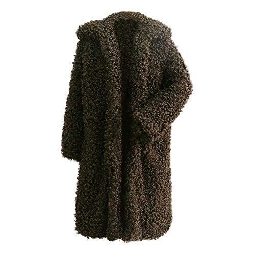 NEARTIME Clearance☀☀Women's Jacket, Fashion Winter Warm Thick Coat Long Faux Fur Casual Overcoat Cardigan Cloak -