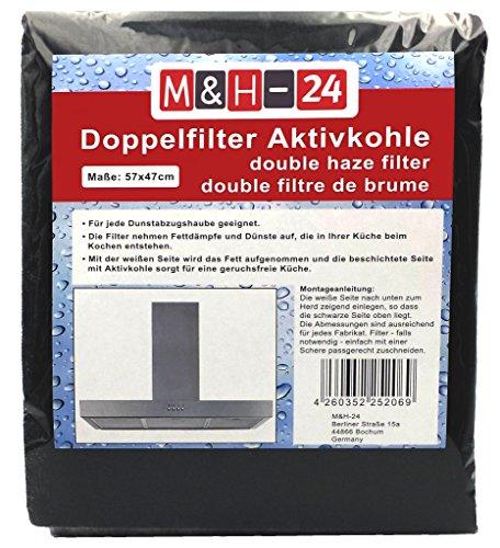 Filtro Campana Extractora Universal con Carbon Activo - Juego de Filtro de Carbono Activo y de Grasa, Filtro Universal para Cualquier Tipo de Campana, 57 x 47 cm, 1 Piezas