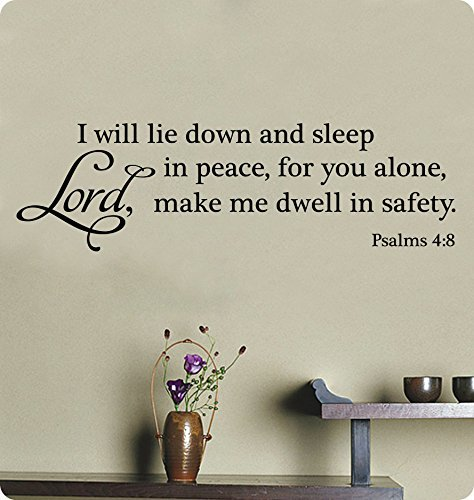 40 i will lay down and sleep in peace for you alone lord make me