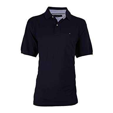 6a9b0739 Tommy Hilfiger Men's Striped Interlock Polo at Amazon Men's Clothing store: