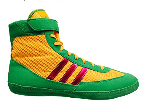 Adidas Combat Speed 4 Wrestling Shoes - Solar Gold/Pink/S...