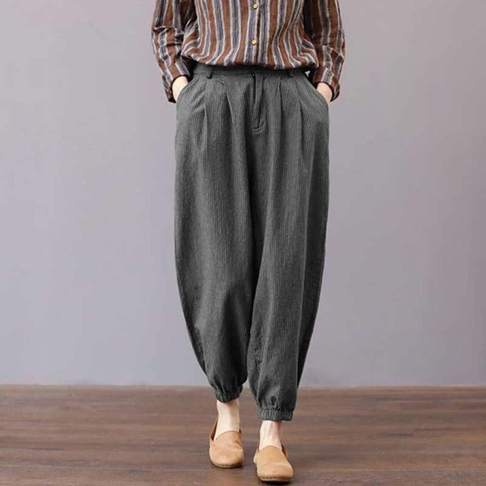 Zegeey Mujer Ancha Pantalon para Mujeres Suelta Tallas ...