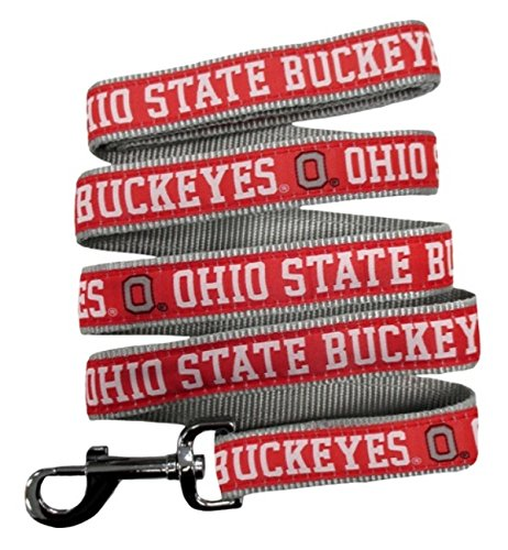 Pets First Ohio State Buckeyes Nylon Collar and Matching Nylon Leash for Pets NCAA Official Size Medium