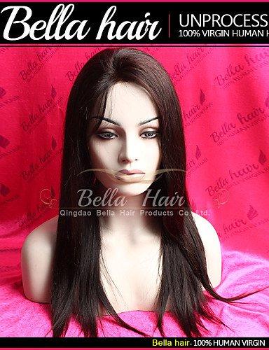 ZQ Lace Front Peluca de pelo humano tejido de pelo recto brasileño Virgin Remy Humano Pelo