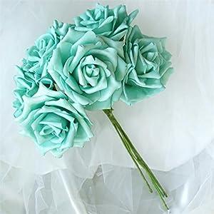 BalsaCircle 36 8 Colors Silk Roses Flowers - 6 Bushes - Artificial Flowers Wedding Party Centerpieces Bouquets Decorations Supplies 42