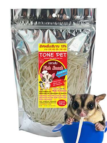 TONE PET Sugar Glider Food Treats Snacks Supplies Protein Calcium Rich Fortified with Vitamins Minerals Excellent Oral Bones Skin Hair Care Wholesome Fish Based Nutrition 120g