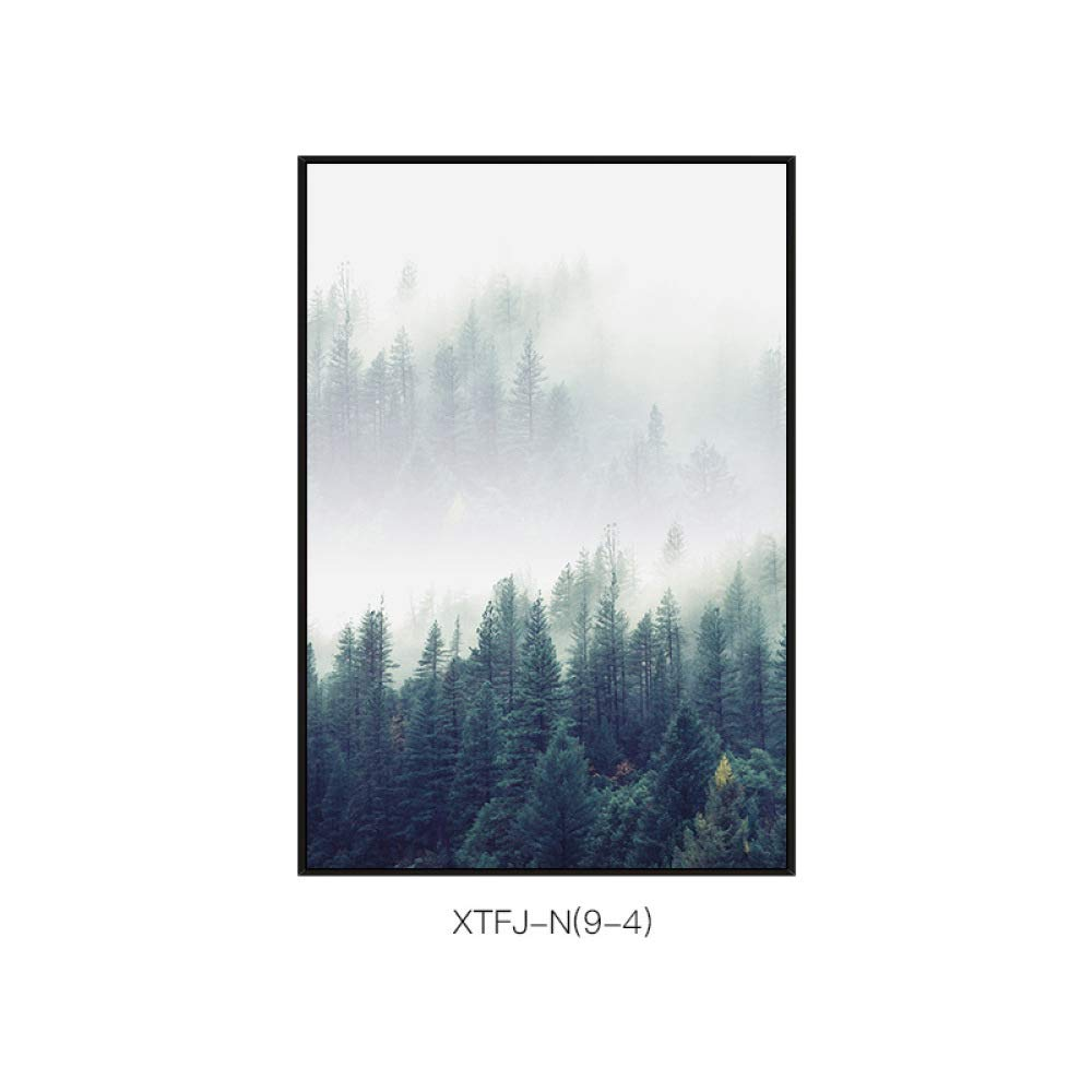 SED Mountain Forest Scenery Single-Piece Wall Decoration Painting, Corridor Aisle Porch Wall Hanging Background Wall Decoration,B,4060cm by SED