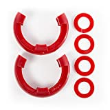 RUGGED RIDGE 11235.31 D-RING ISOLATOR KIT RED