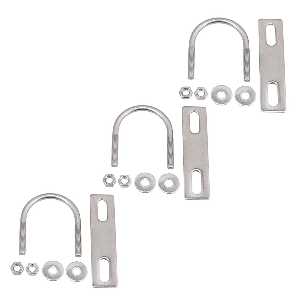 Mxfans 3 x U Shaped Bolt 304 Stainless Stee U Bolt M6x38 for Fixing Pipes Poles