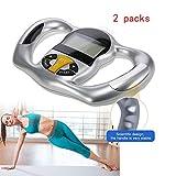 ZUZU Body Fat Caliper [Health and Beauty] Hand Held Body Mass Index BMI Health Fat Analyzer Health Monitor Handheld LCD -2 Packs