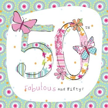 Olive Belle Butterflies 50th Birthday Card Amazoncouk Office Products
