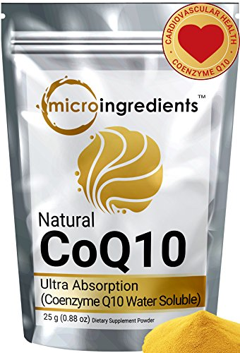 Micro Ingredients Ultra High Absorption Natural CoQ10 Powder (700 mg) Water Soluble, 25 grams
