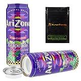 Arizona Grapeade Diversion Safe Stash Can 23 oz w HumanFriendly Smell-Proof Bag
