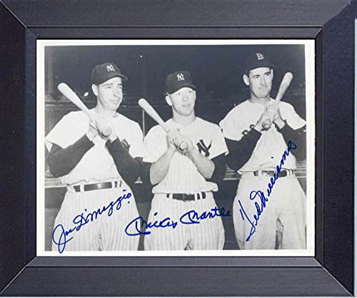 - Mickey Mantle Joe DiMaggio Ted Williams Baseball Legends Framed Print 14 x 17
