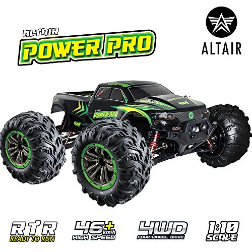 Altair Fast Remote Control Truck 4×4 (48km/h 30MPH) – 1:10 Scale Large Vehicle, Radio Controlled Off-Road 4×4 Electric Monster Truck, R/C Hobby Grade Rock Crawler RC Car (Lincoln, NE, USA Company)