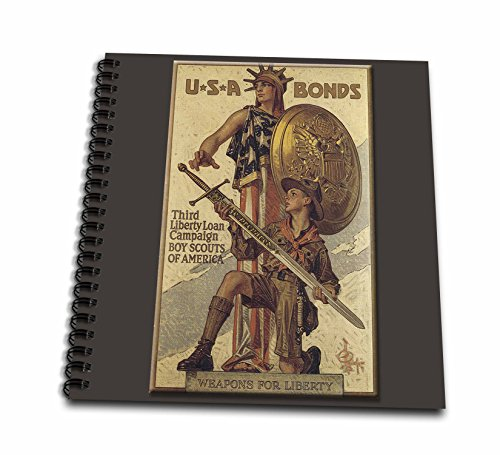 3dRose db_149392_2 Vintage USA Bonds Third Liberty Loan Campaign Boy Scouts of America Memory Book, 12 by 12