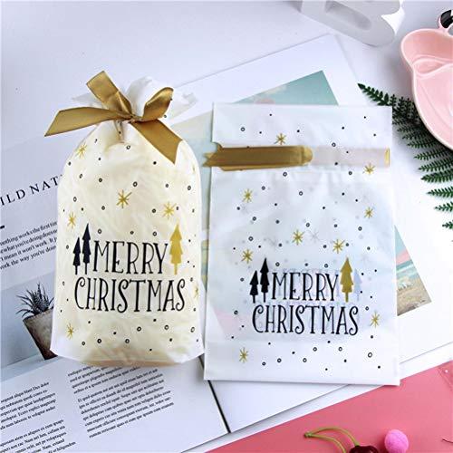 Cerchi A Lovely 50pcs E Favore Plastica Sacchetti Treat Di Toyvian Bags Cospargere Snowflake Nastro Cravatta Per Con 7gRnZ