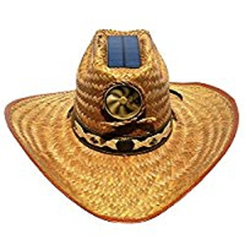 Cowboys Fan (Cooling Sun Straw Solar Men's Palm Leaf Cowboy Hat w. Band Large)
