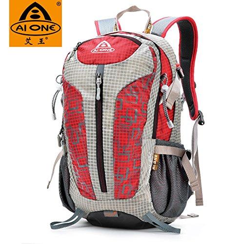 Mountaineering Bag 25L Outdoor Männer und Frauen Schulter Rucksack Wanderpackage Bergsteigen Taschen , hellgrau