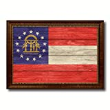 Georgia State Textured Flag Art Canvas Print Gift Ideas office Wall Home Decor Livingroom Vintage Interior Design Picture Frame