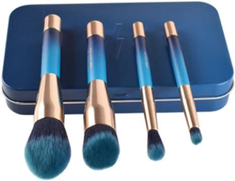YZ-YUAN 4 Pcs Maquillaje Brochas Profesional Conjunto, Conjunto De Caja De Degradado Pincel Fibra De Pelo Artificial Fundación Mezcla Corrector Ojo Cara Crema En Polvo Líquido Cosméticos Pinceles: Amazon.es: Deportes y aire