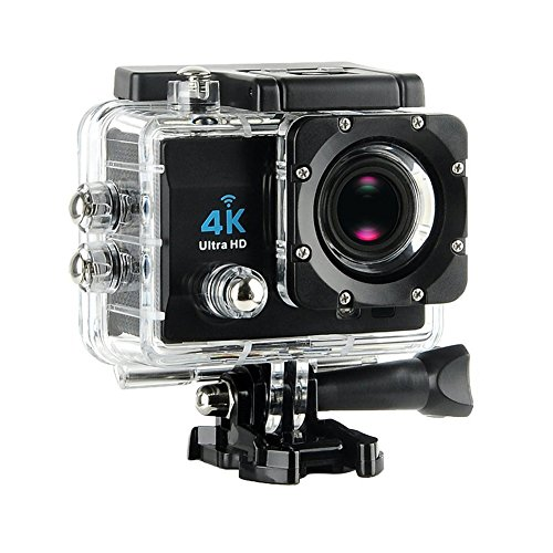 Yuancin Sport Action Camera 4K Ultra HD 30fps Wifi Waterproof Sport DV Camcorder Sony Sensor 12MP 170 Degree Wide Angle 2 inch LCD Screen Action Cameras Yuancin