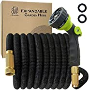 BlueBala Expandable and Flexible Garden Hose - Upgraded Water Hose With Durable Multiple Layer Latex, 8 Functi