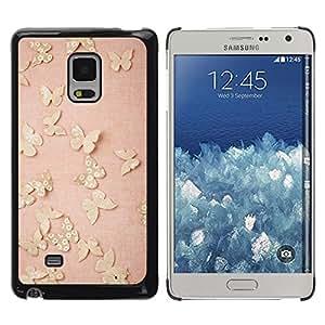 Be Good Phone Accessory // Dura Cáscara cubierta Protectora Caso Carcasa Funda de Protección para Samsung Galaxy Mega 5.8 9150 9152 // butterfly retro vintage pink peach