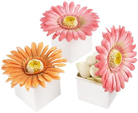 Kate Aspen Daisy Delight Gerbera Favor Box, Bright Orange (Pack of 24) Inc. 28091OR