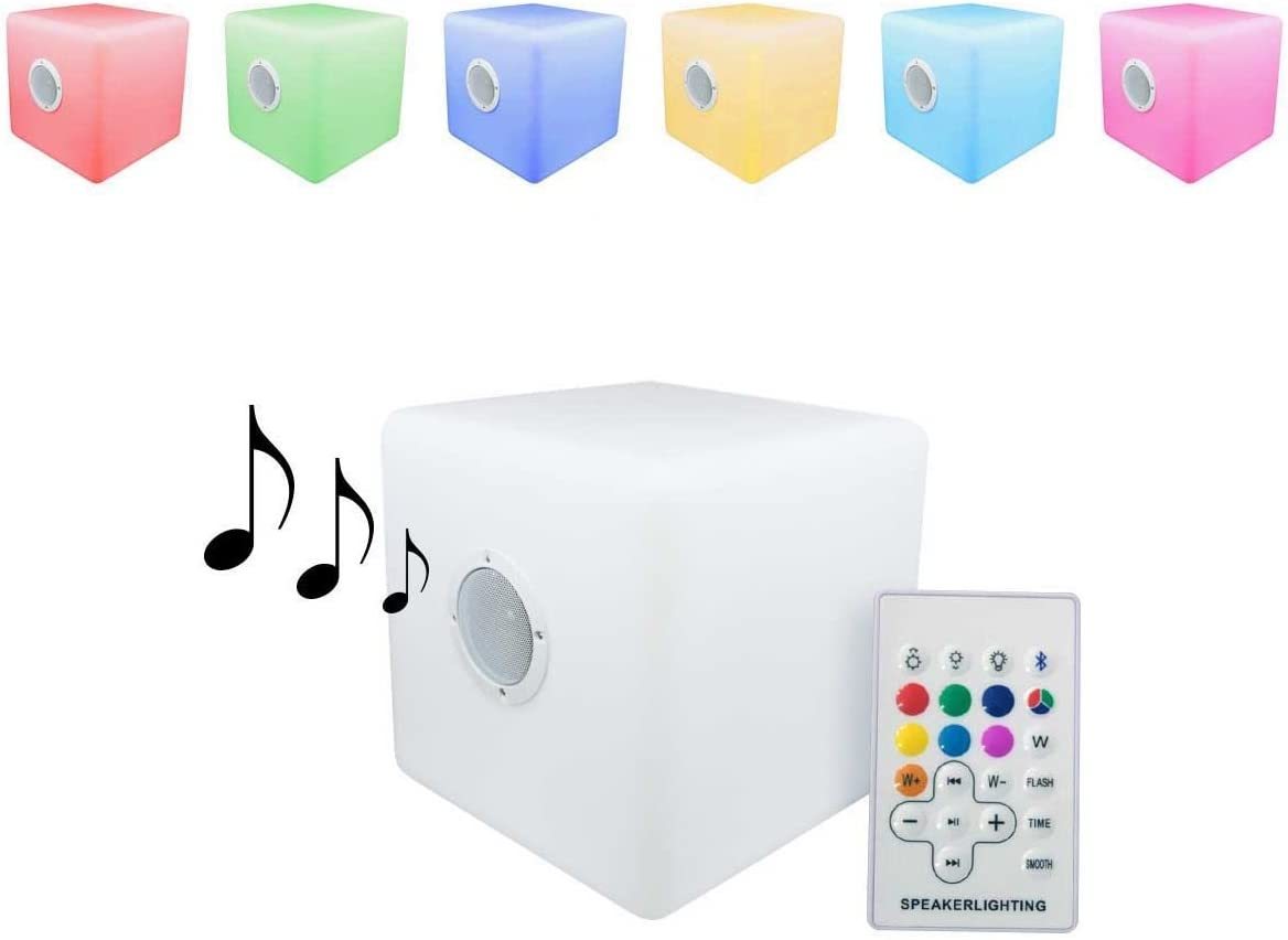 Cubo led Luminoso 30x30cm Altavoz Bluetooth portátil Cambio de Color Entrega 1-3 DÍAS: Amazon.es: Hogar