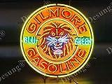Desung 24''x24'' Gilmore Gasoline Blu Green Gas Oil Neon Sign Light Lamp HD Vivid Printing Tech Beer Pub Bar Handmade Man Cave HV04