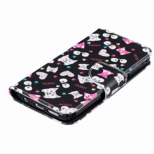 Yiizy Samsung Galaxy S7 G930 Custodia Cover, Occhiali Gatto Design Sottile Flip Portafoglio PU Pelle Cuoio Copertura Shell Case Slot Schede Cavalletto Stile Libro Bumper Protettivo Borsa